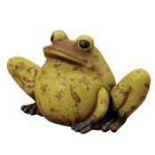 Long Magnesium Antiqued Garden Frog, Green 22-Inch