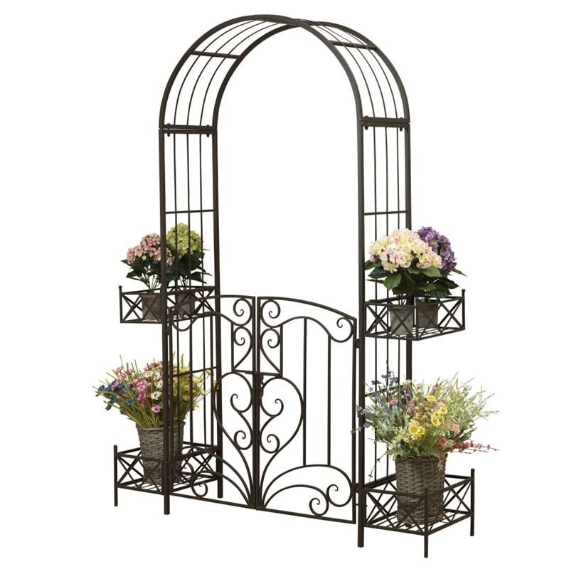Metal Garden Arch Gate 87h