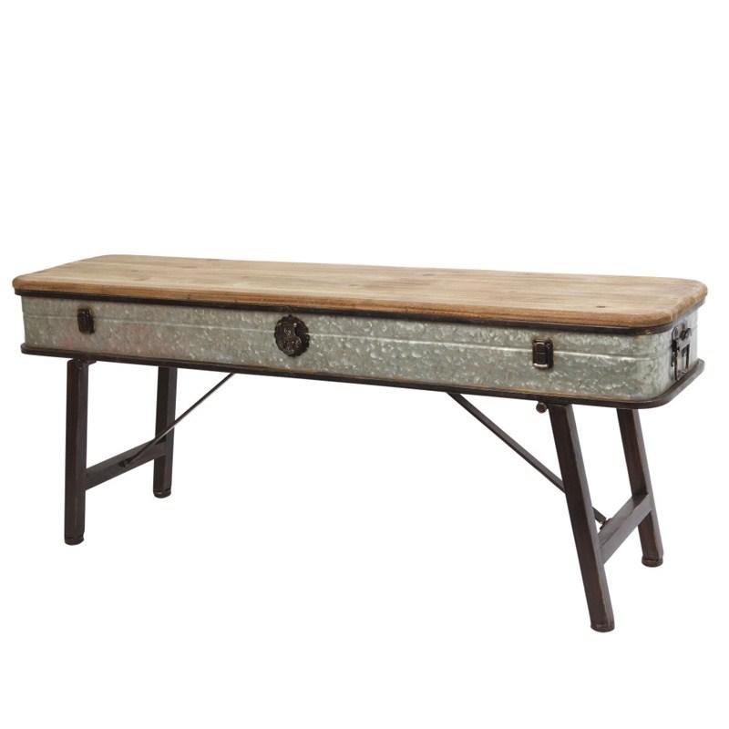 Antique Bench Metal/wood 41l