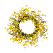 Diameter Natural Twig Forsythia Wreath, Yellow 24-inch