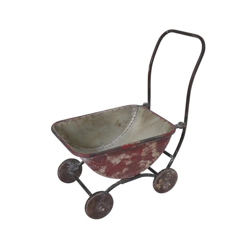 Metal Wagon Planter 17.5inh