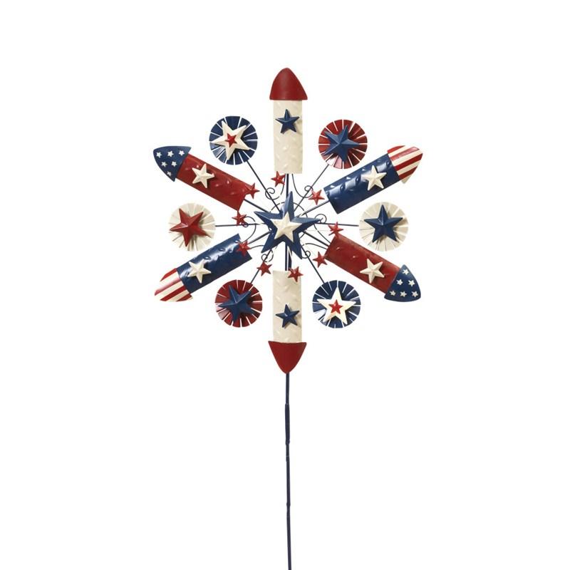 Patriotic Wind Spinner 38inh