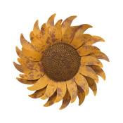Diameter Metal Sunflower Wall Decor 22-inch
