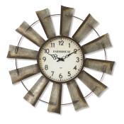Diameter Metal Windmill Clock Battery-operated 27.1-inch
