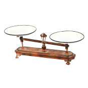 Long Antique Wood And Metal Scale 22.8-inch