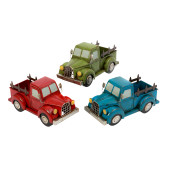 Metal Antique Truck Planters 14.5-inch Set Of 3