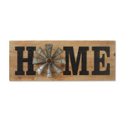 Long Wood And Metal Home Windmill Wall Decor 31.5-inch