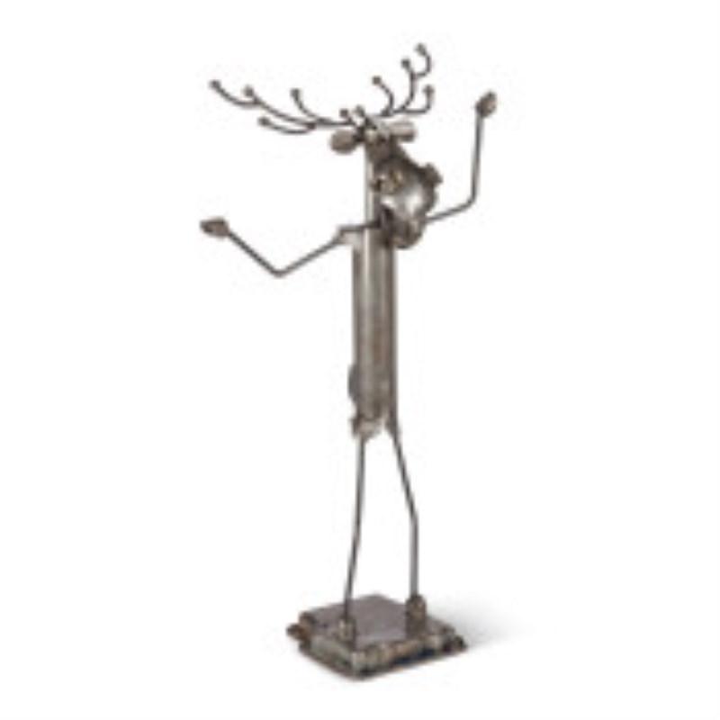 Randolph The Reindeer Metal Reindeer Sculpture 4h