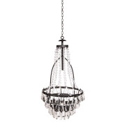 High Metal And Acrylic Hanging Solar Chandelier 33-inch