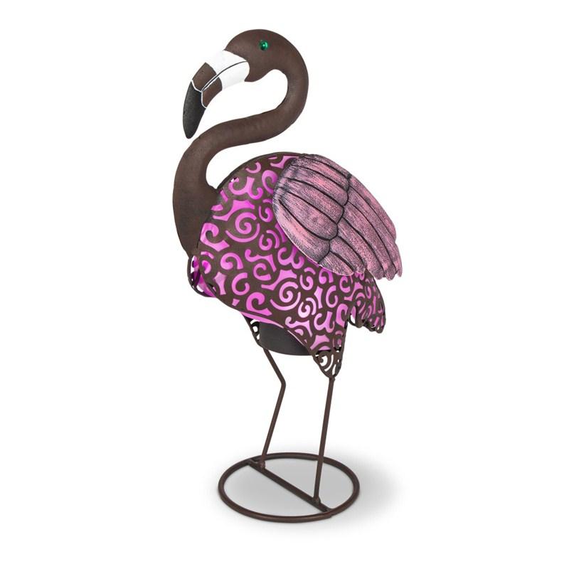 Solar Metal Flamingo 18inh