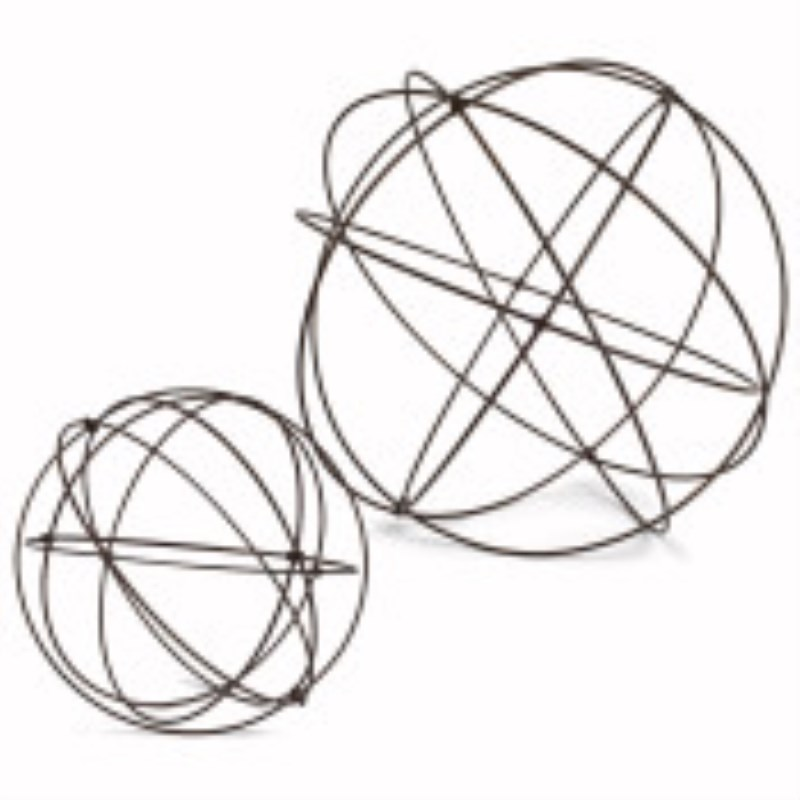 Assorted-size Sturdy Wire Garden Spheres Set Of 2