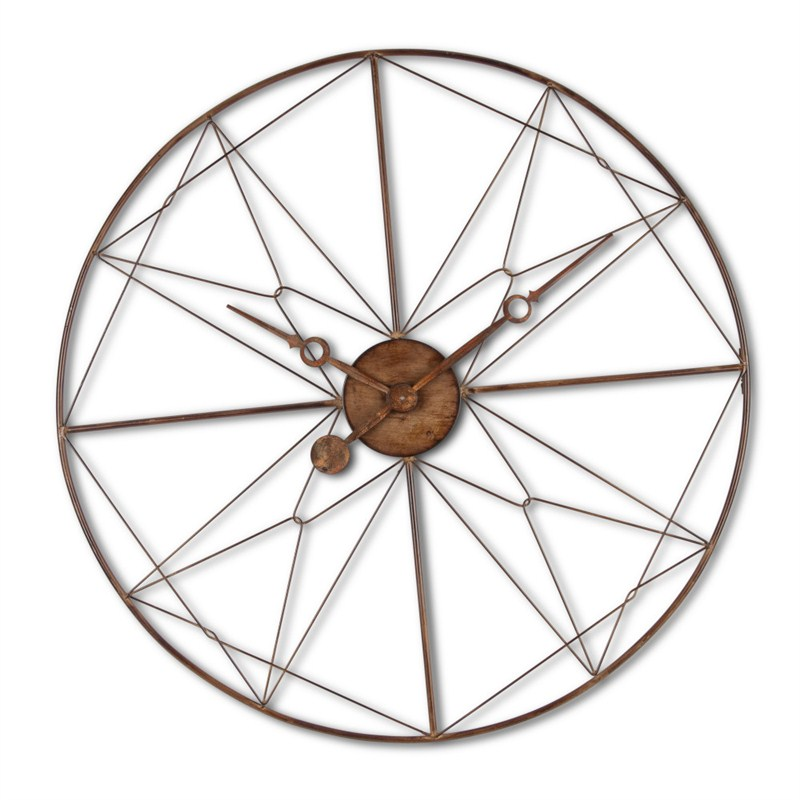 Industrial Wheel Clock