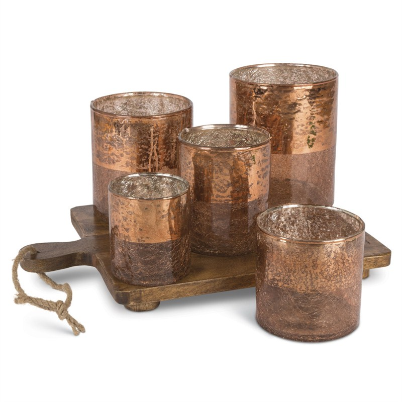 Copper Votive Garden 10InL