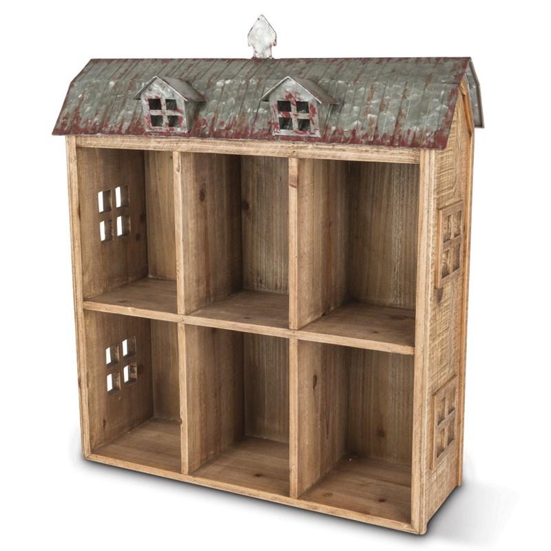 24.5inh Wood Barn Shelf