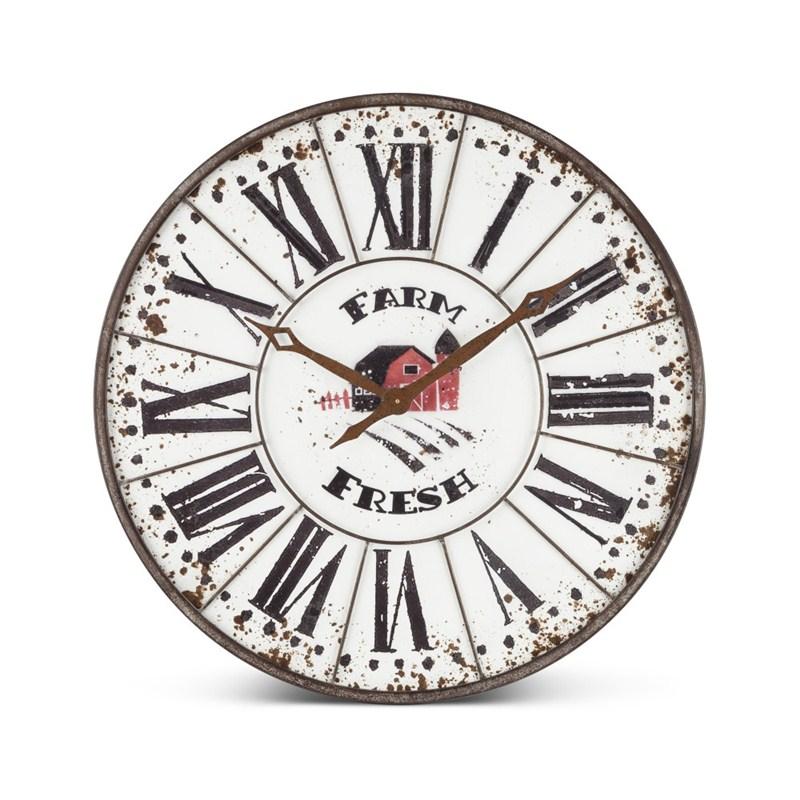 Metal Farm Clock
