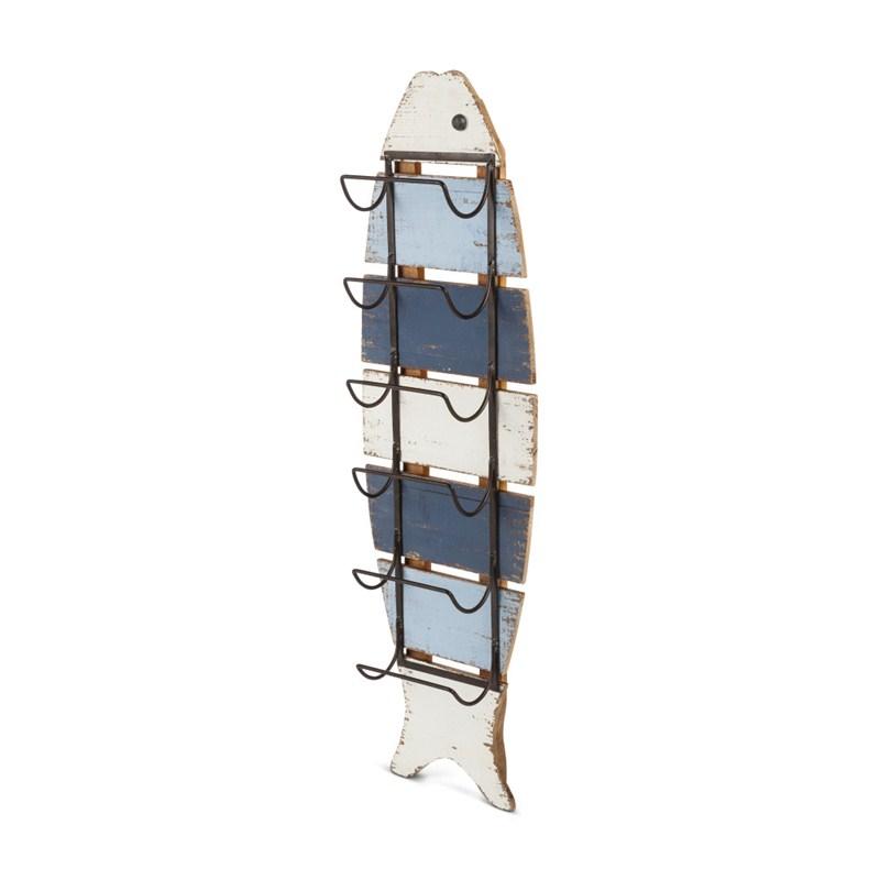Wood Striped Fish Rack