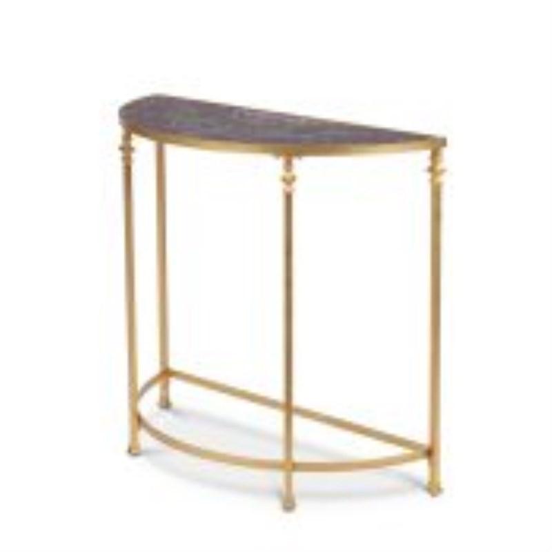 Gold Ink Mediterranean Fresco Half Round Console Tall Table