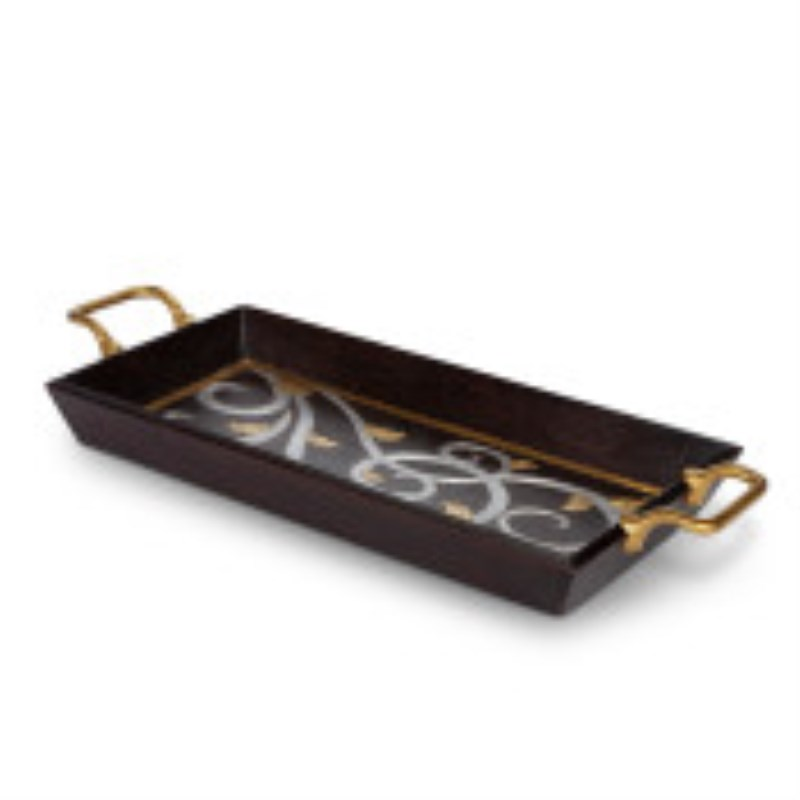 GL Rectangular Mango Wood Tray with Handle