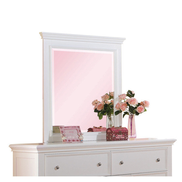 Acme Lacey Mirror, White