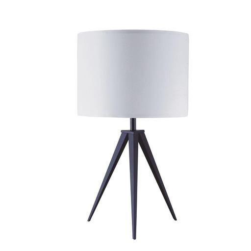 Acme Glynn Table Lamp, White & Black