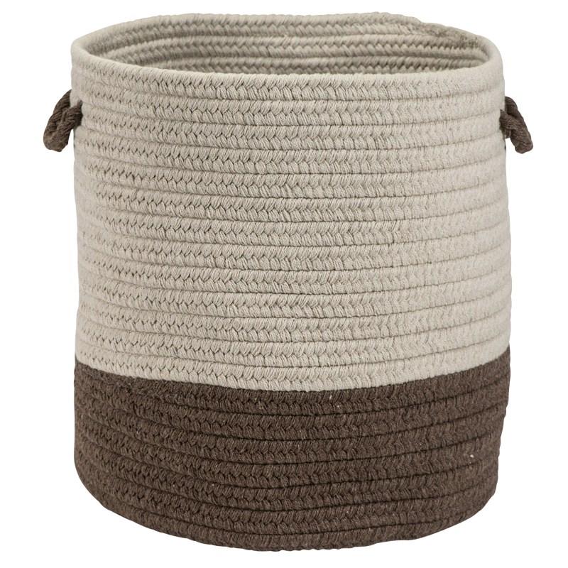 Sunbrella Coastal Basket Braided Brown Area Rugs