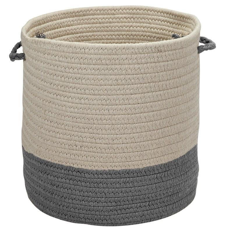 Sunbrella Coastal Basket Braided Gray Area Rugs