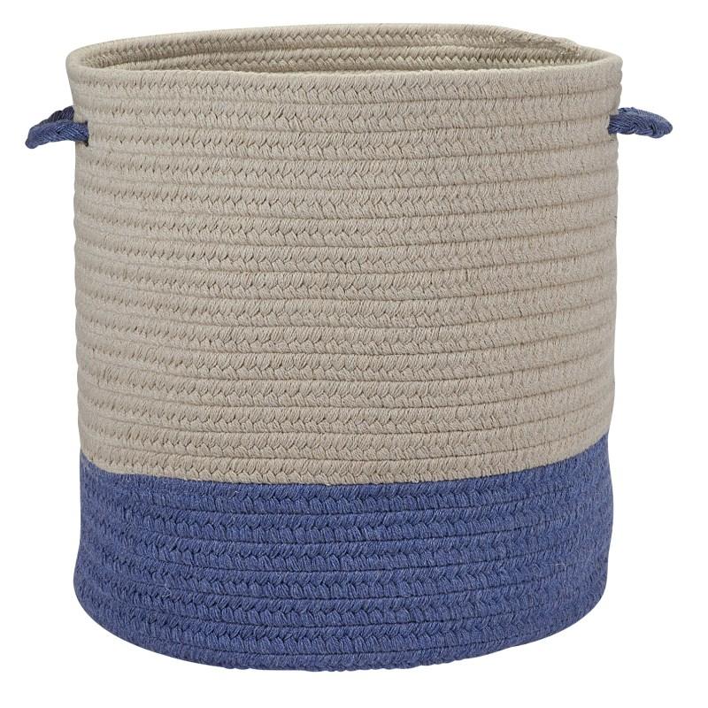 Sunbrella Coastal Basket Braided Blue Area Rugs