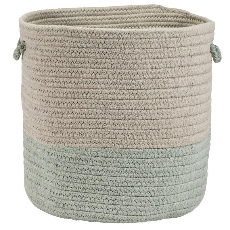 Sunbrella Coastal Basket Braided Green Area Rugs