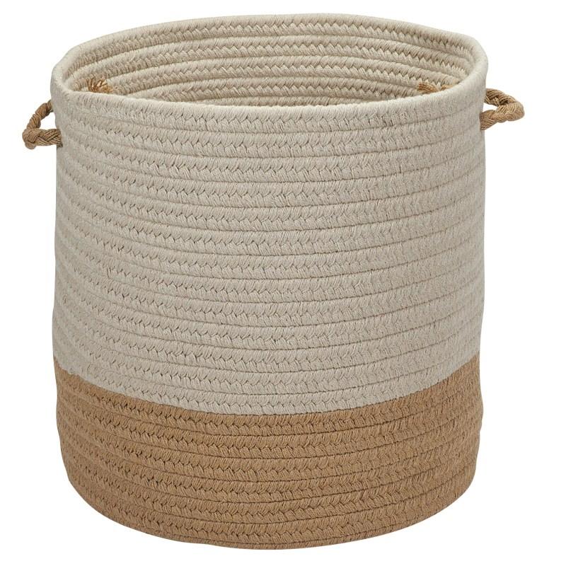 Sunbrella Coastal Basket Braided Beige Area Rugs