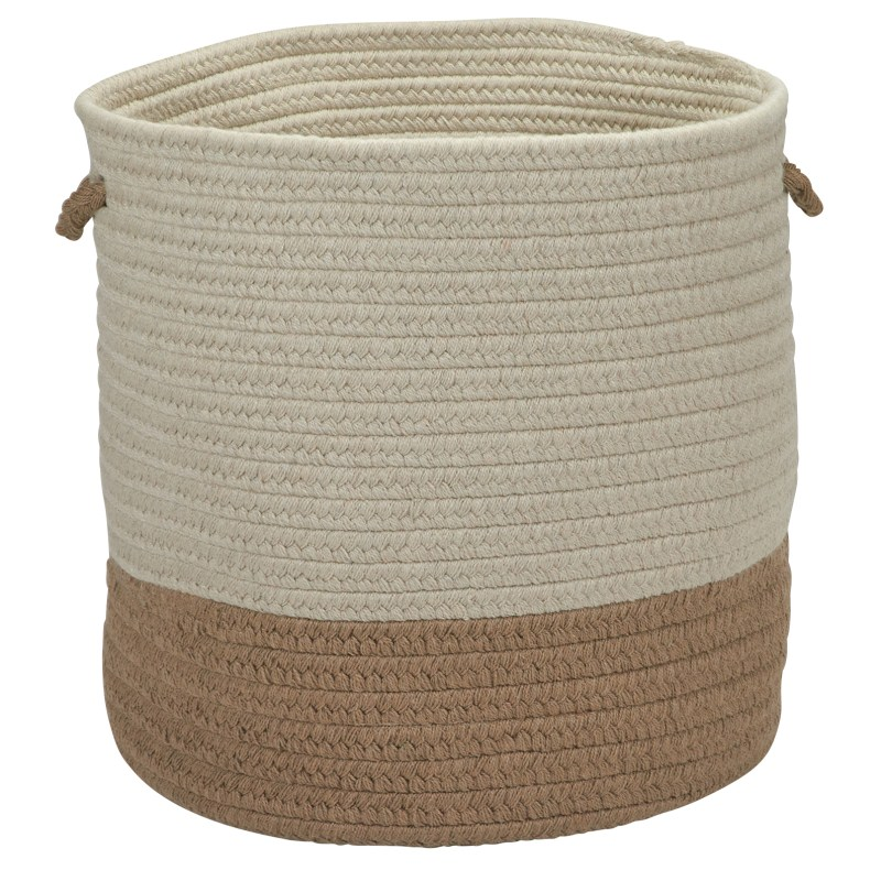 Sunbrella Coastal Basket Braided Taupe Area Rugs