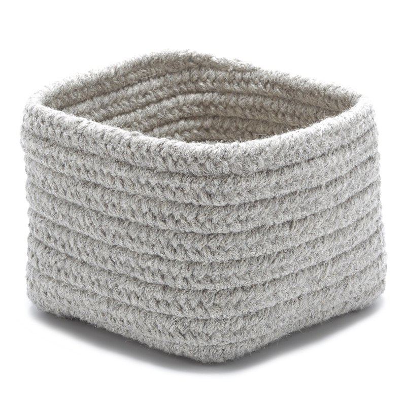 Natural Shelf Storage Braided Gray Area Rugs
