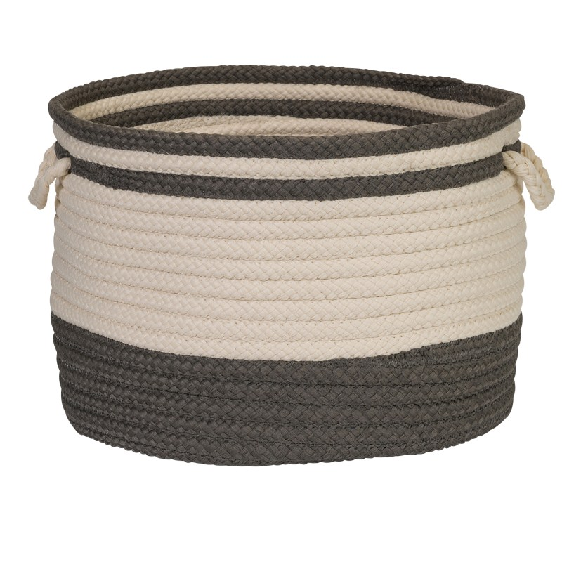 Bar Harbour Basket Braided Gray Area Rugs