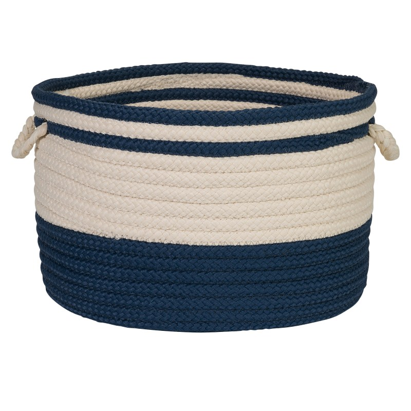 Bar Harbour Basket Braided Blue Area Rugs