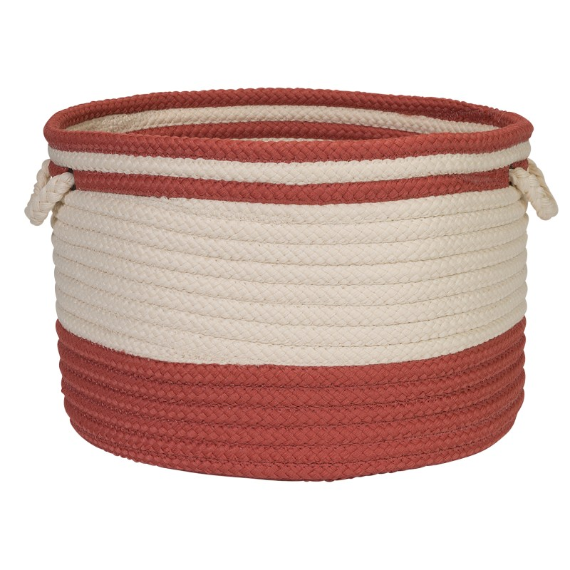 Bar Harbour Basket Braided Red Area Rugs