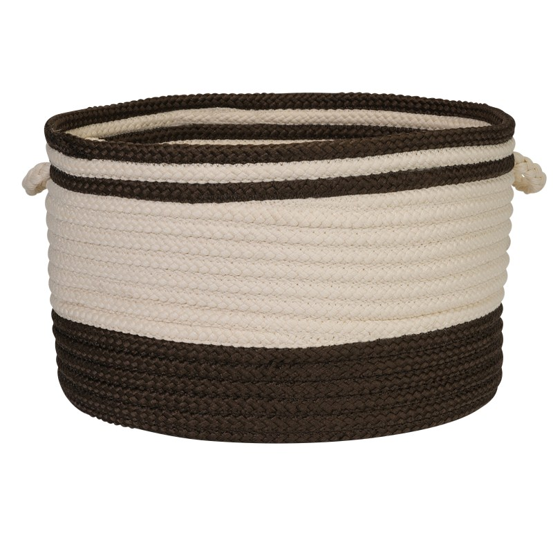 Bar Harbour Basket Braided Brown Area Rugs