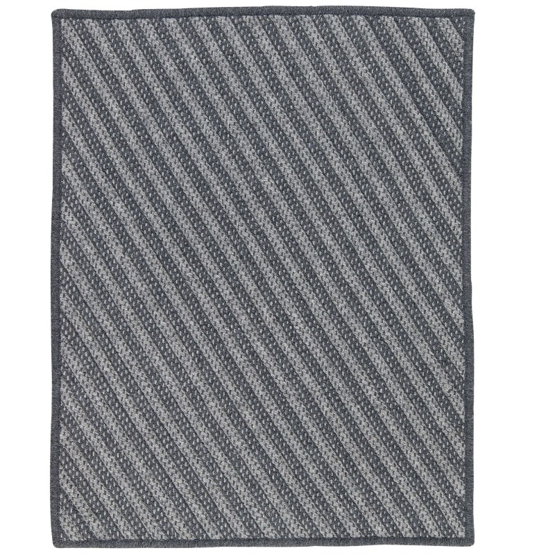 Blue Hill Braided Charcoal Area Rugs