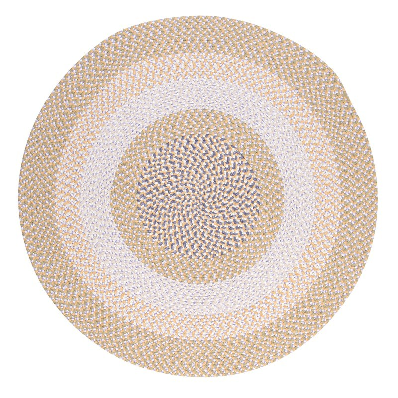 Blokburst Braided Yellow Area Rugs