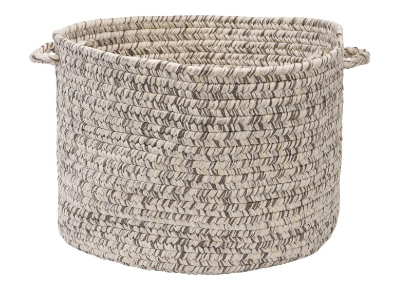 Corsica Basket Braided Gray Area Rugs