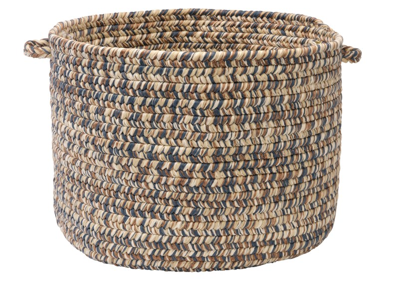 Corsica Basket Braided Blue Area Rugs