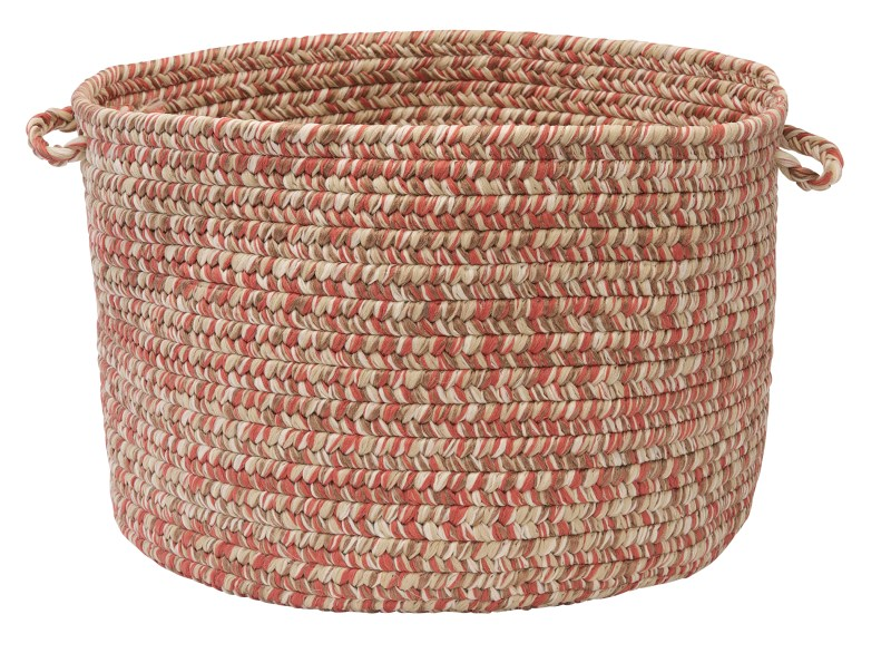 Corsica Basket Braided Red Area Rugs