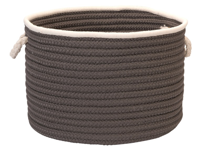 Doodle Edge Storage  Braided Gray Area Rugs