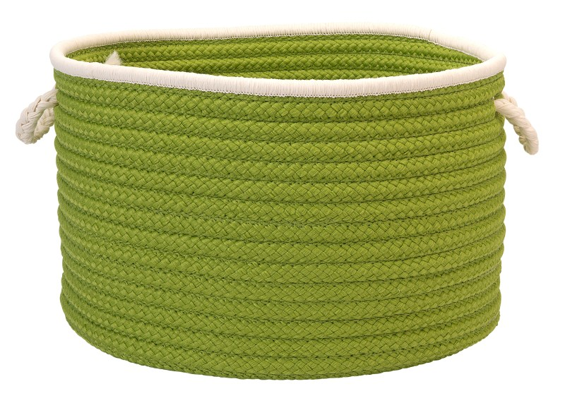 Doodle Edge Storage  Braided Green Area Rugs