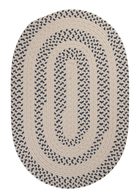Elmwood Braided Blue Area Rugs