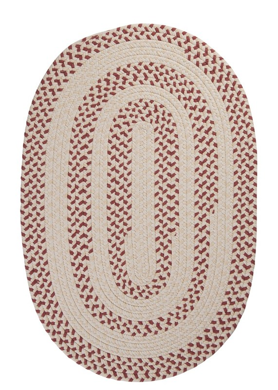 Elmwood Braided Red Area Rugs