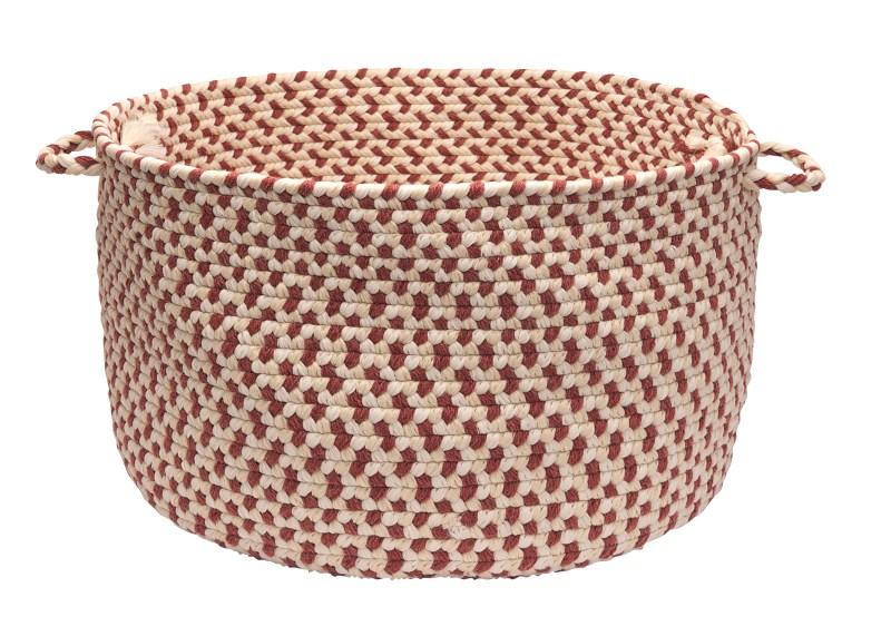 Elmwood Basket Braided Red Area Rugs