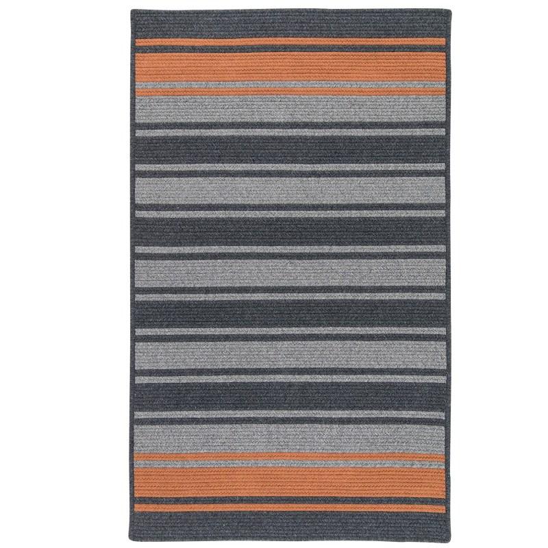 Frazada Stripe Braided Charcoal Area Rugs
