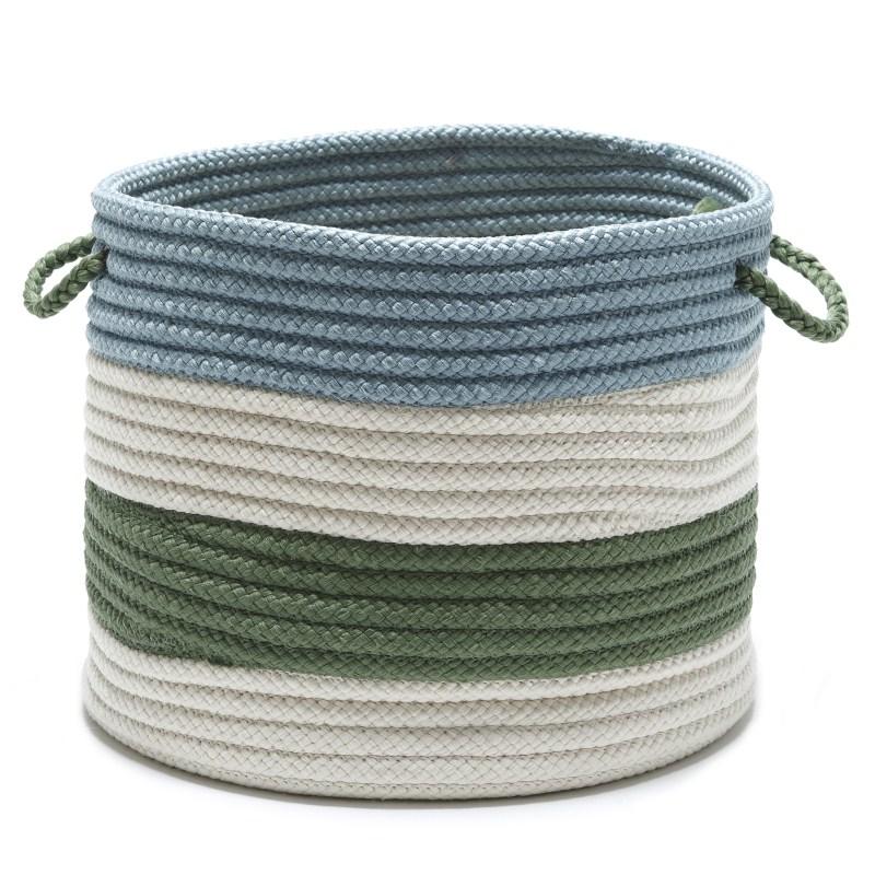 Grove Basket Braided Green Area Rugs