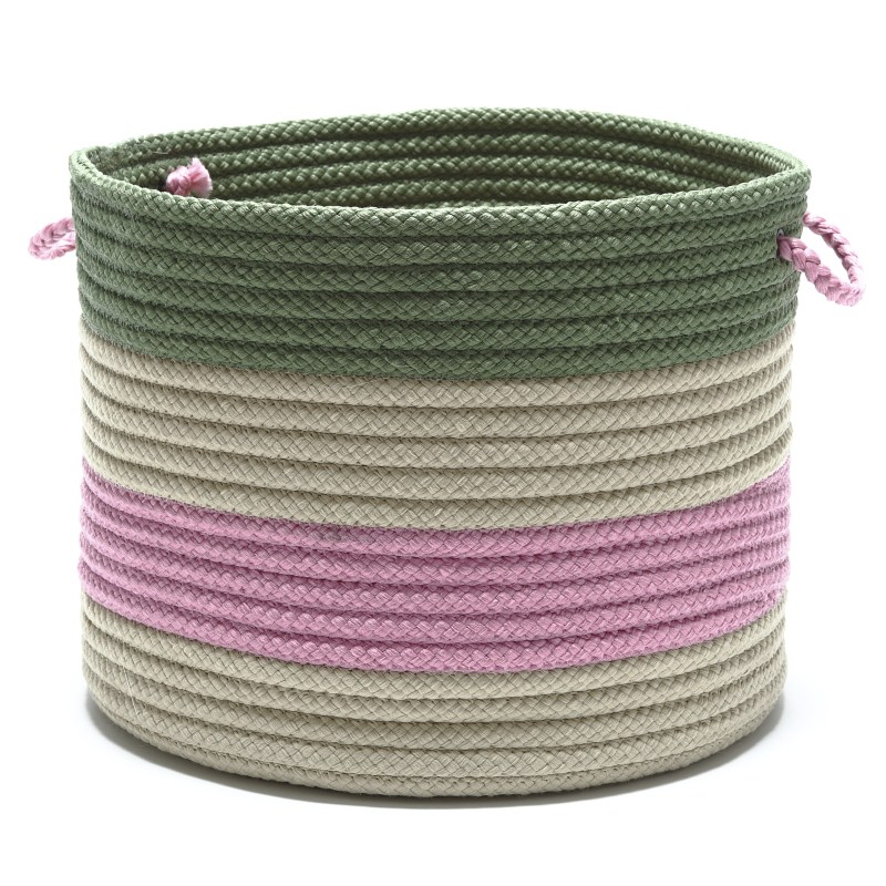 Grove Basket Braided Pink Area Rugs