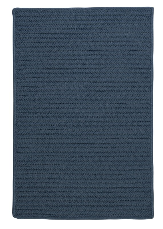 Simply Home Solid Braided Blue Area Rugs