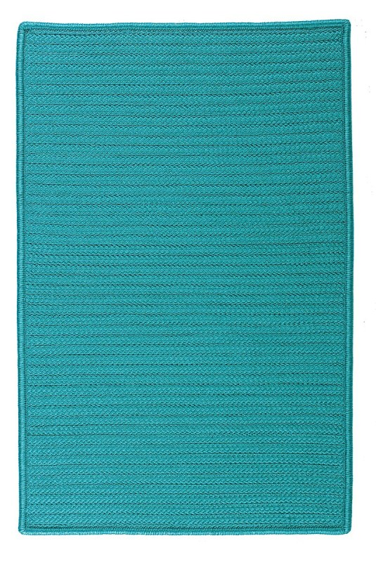 Simply Home Solid Hamper W/ Lid  Braided Blue Area Rugs